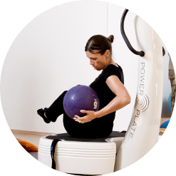 Fraufitness mit dem Powerplate